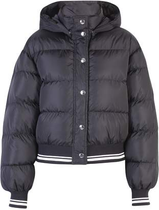 MSGM Black Branded Padded Jacket