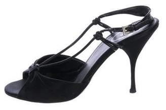 Prada Satin Slingback Sandals