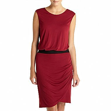 Mng by Mango® Ruched Colorblock Dress