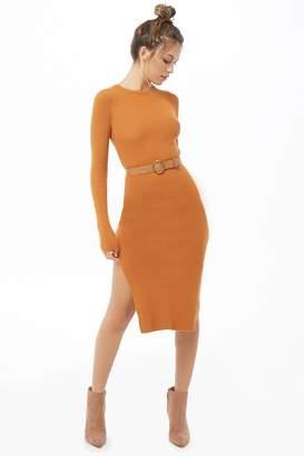 Forever 21 Belted Calf-Length Dress