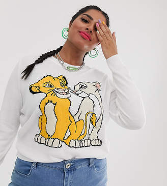 Asos Disney The Lion King x DESIGN Curve knitted jumper with Simba and Nala