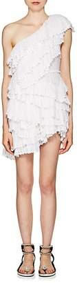 Isabel Marant Women's Zeller Cotton Eyelet Tiered Dress