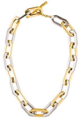 Rachel Zoe Two-Tone Signature Link Necklace