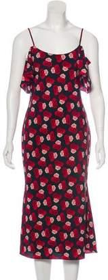 Karl Lagerfeld Printed Midi Dress