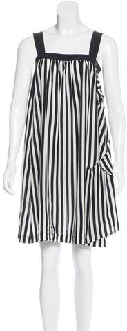 Miu MiuMiu Miu Striped Silk Dress w/ Tags