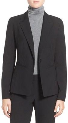 Women's Halogen 'Ela' One-Button Stretch Suit Jacket $129 thestylecure.com