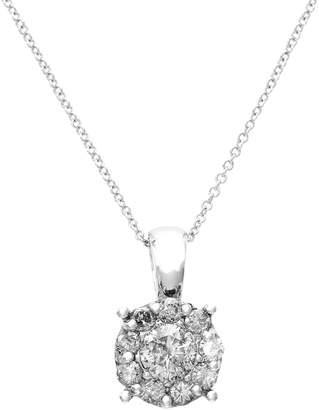 Effy 14K White Gold Diamond Pendant Necklace