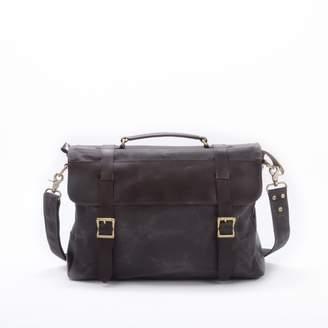 EAZO - Waxed Canvas Messenger Bag in Grey