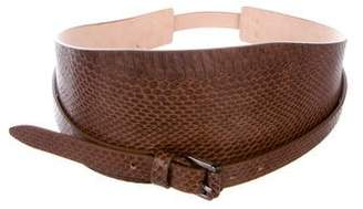 Barbara Bui Snakeskin Wide Belt