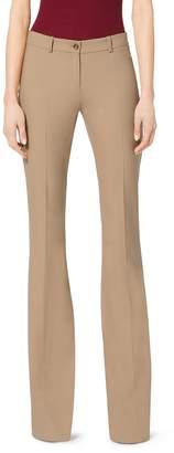 Michael Kors Stretch-Wool Wide-Leg Pants