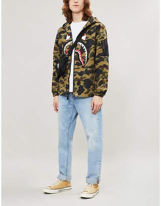 9f7975ce A Bathing Ape Hooded camouflage shark shell jacket