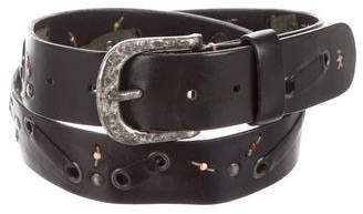 Henry Beguelin Leather Beaded Belt