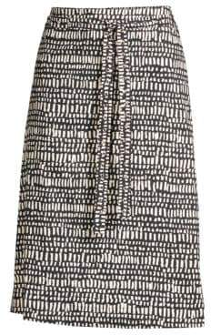 Max Mara Women's Vosci Printed A-Line Skirt - Midnight Blue - Size 6
