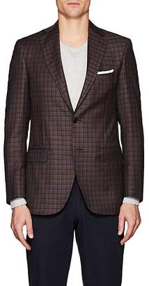 Piattelli MEN'S CHECKED VIRGIN WOOL TWO-BUTTON SPORTCOAT