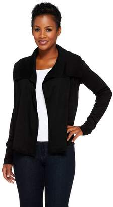 Joan Rivers Classics Collection Joan Rivers Sweater Knit Wrap Cardigan w/ Long Sleeves