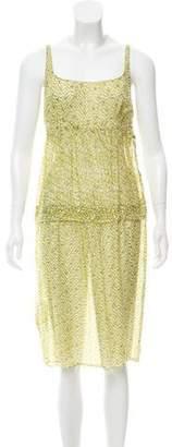 Calvin Klein Collection Printed Silk Midi Dress
