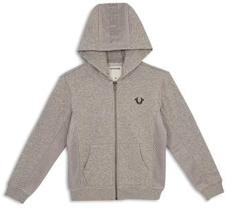 True Religion Boys' French Terry Hoodie with Mesh Details