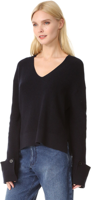 Helmut Lang Slouchy Sleeve Sweater $395 thestylecure.com