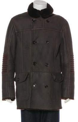 Gucci Shearling Double-Breasted Coat