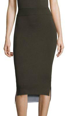 DKNYDKNY Reversible Merino Wool Midi Skirt