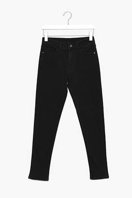 Genuine People Cropped Black Stretch Jeans