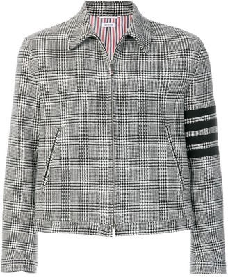 Thom Browne Prince of Wales Check Woven Golf Jacket