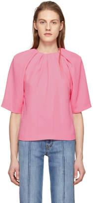 Maison Margiela Pink Cady Draped Blouse