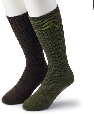 Columbia Men's 2-pack Patterned Wool-Blend Boot Crew Socks