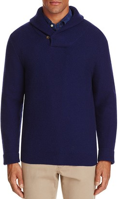 Vineyard Vines Wool Blend Shawl Collar Sweater $185 thestylecure.com
