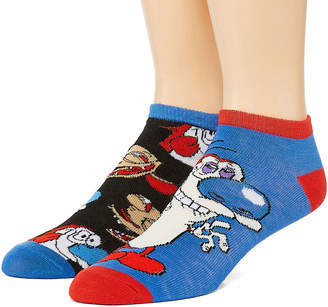 Nickelodeon Novelty Socks 2 Pair Low Cut Socks-Mens