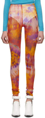 MSGM Multicolor Tie-Dye Leggings