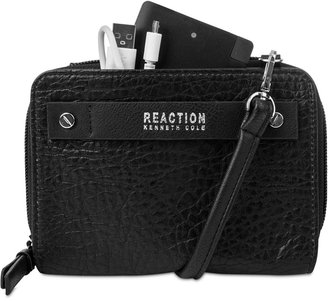 Kenneth Cole Reaction Strap Wallet With Battery Charger $78 thestylecure.com