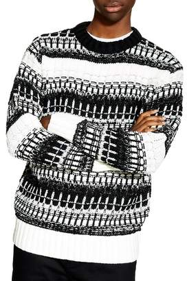 Topman Mono Texture Sweater