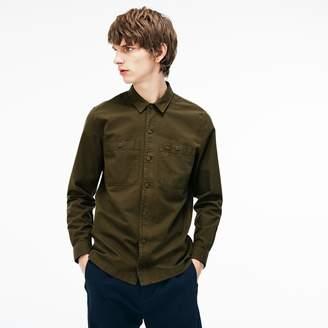 Lacoste Men's Regular Fit Lightweight Cotton Flannel Shirt