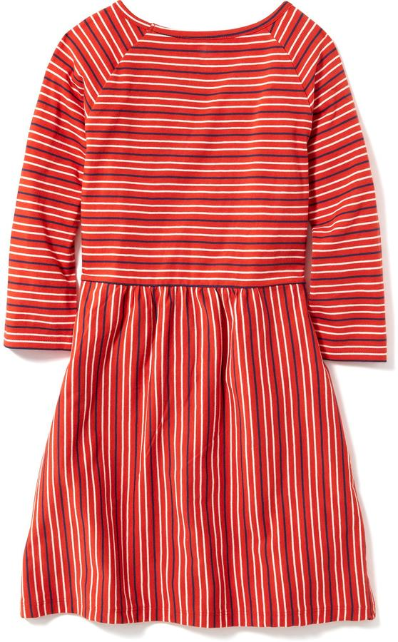 Striped Jersey Fit & Flare Dress for Girls 2