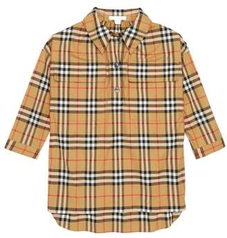 Burberry MaryAlice Check Smock Shirt