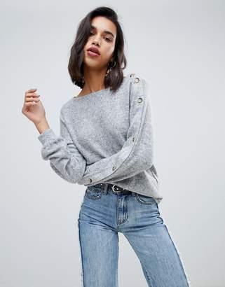 Vero Moda Button Sleeve Sweater