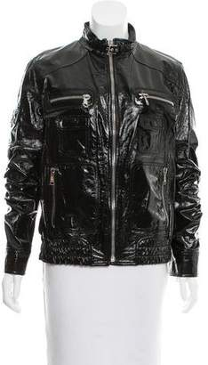 Dolce & Gabbana Patent Leather Utility Jacket w/ Tags