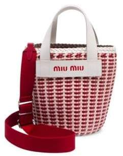 Miu Miu Eco Textured Leather Tote