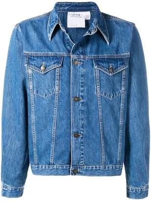 Calvin Klein Jeans Est. 1978 logo patch trucker jacket