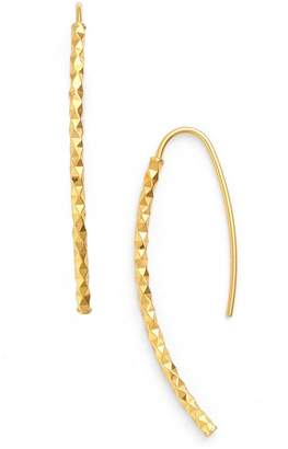 Argentovivo 18K Gold Plated Sterling Silver Curved Threader Earrings