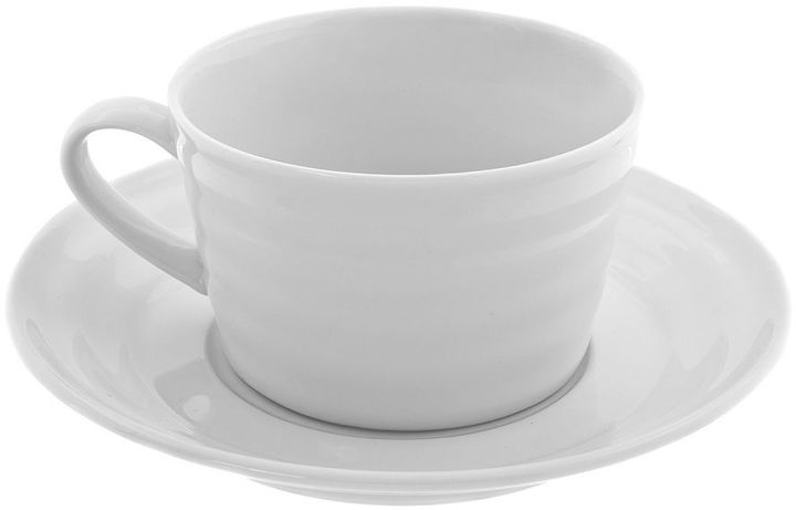 10 Strawberry Street Swing White 12-pc. Oversized Cup & Saucer Set
