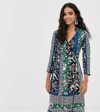 Miss Selfridge midi wrap dress in mixed floral
