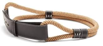 Roksanda Leather Trimmed Rope Waist Belt - Womens - Black