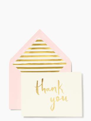 Kate Spade paint brush thank you card set