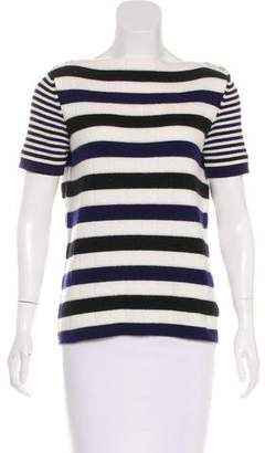 Chanel Striped Cashmere Sweater