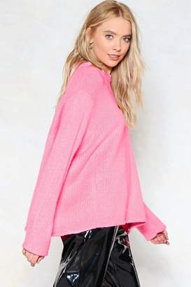 Nasty Gal Sit Back and Relax Hun Slouch Sweater