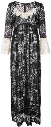 Anna Sui floral medallion lace dress