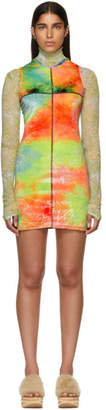 Eckhaus Latta Multicolor Velvet Mini Dress