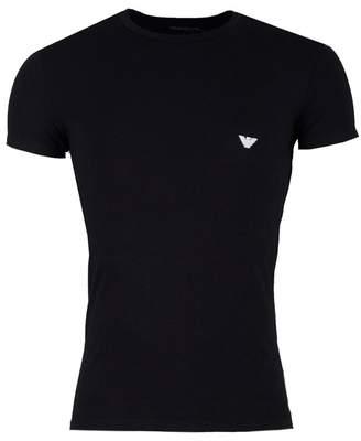 Emporio Armani Embroidered Eagle Crew Neck T-shirt
